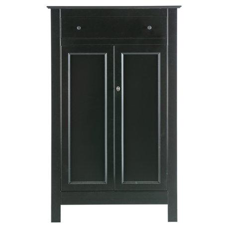 WOOOD Kast Eva zwart grenen 150x93x40cm