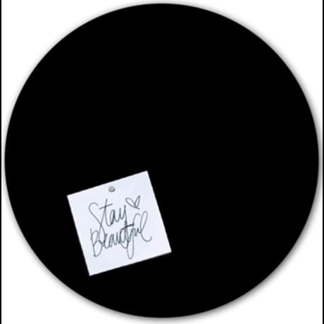 Groovy Magnets Tafelmagnetaufkleber schwarz selbstklebendes Vinyl ø60cm