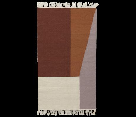 Ferm Living Tapis frontières laine de coton Kilim 140x200cm
