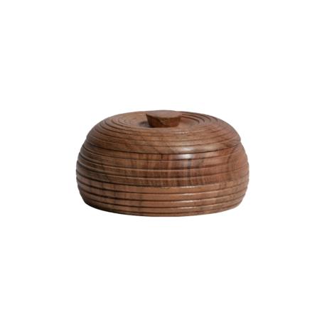 BePureHome Opbergpot Vessel bruin hout Ø11x6cm