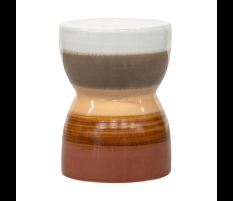 BePureHome Kruk Glazed chestnut keramiek Ø33x43cm
