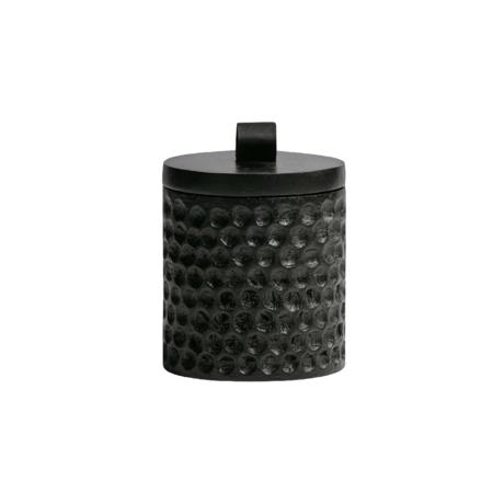 WOOOD Storage pot Holly brown wood Ø9x12cm