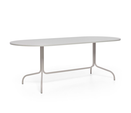 FÉST Friday dining table oval beige metal 210x90x72cm