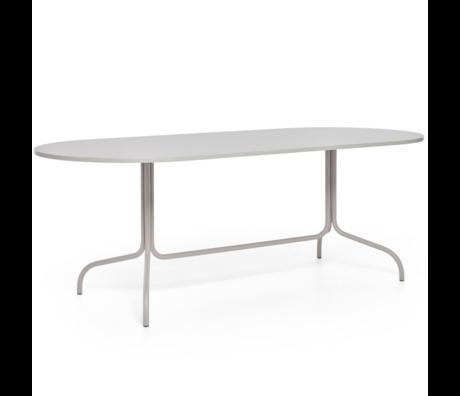 FÉST Friday table à manger ovale en métal beige 210x90x72cm