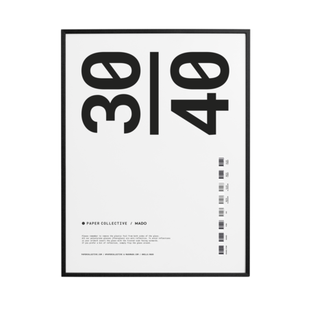 Paper Collective Cadre photo cadre bois pin noir 30x40cm