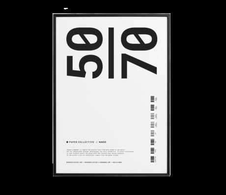 Paper Collective Cadre photo cadre bois pin noir 50x70cm
