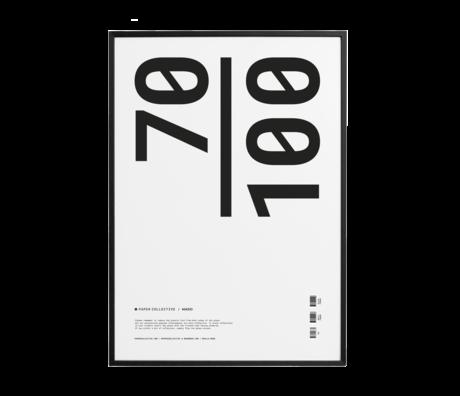 Paper Collective Cadre photo cadre bois pin noir 70x100cm