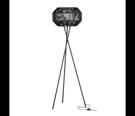 WOOOD Staande lamp Griffin zwart metaal papier 158x57x57cm