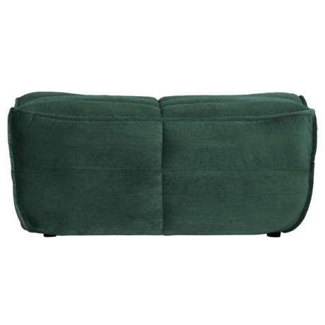 vtwonen Poef Cluster groen glans fluweel 46x105x62cm