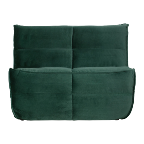vtwonen Bank Cluster 1-zits groen glans fluweel 82x105x92cm