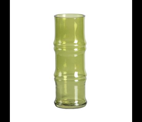 WOOOD Vaas Kali groen glas ø9x25cm