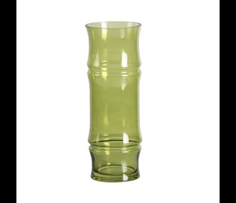WOOOD Vaas Kali groen glas ø11x30cm