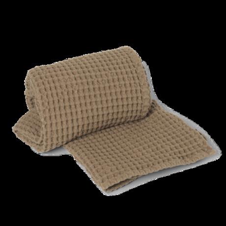 Ferm Living Organic Tan brown cotton towel 70x140cm