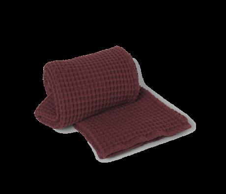 Ferm Living Organic Cinnamon brown cotton towel 70x140cm