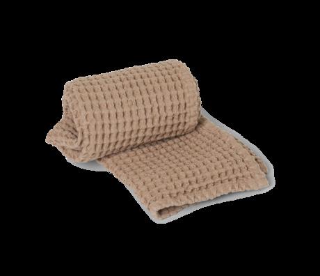 Ferm Living Guest towel Organic Tan brown cotton 50x100cm