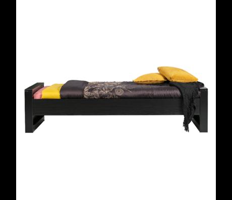 WOOOD Bed Dennis zwart geborsteld grenen 90x200cm
