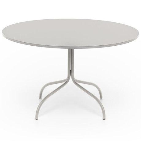 FÉST Table à manger vendredi ronde en métal beige 72x120x120cm