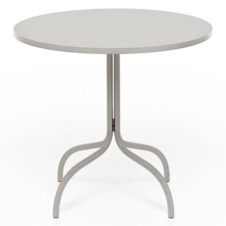 FÉST Table bistrot Friday ronde en métal beige 72x80x80cm