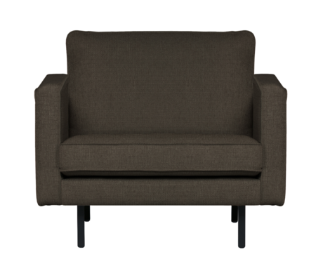 BePureHome Fauteuil stretched Rodeo warm grijs bruin 85x105x86cm
