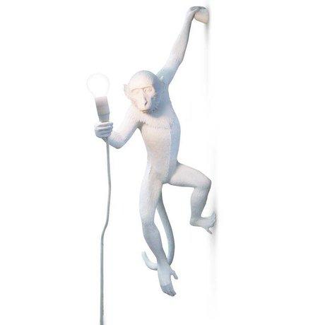 Seletti Wandleuchte Die Affe weiß Kunststoff 37x20,5xh76,5cm