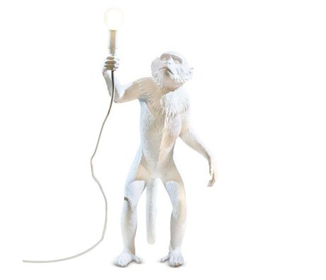 Seletti Table lamp The Monkey white plastic 46x27,5xh54cm