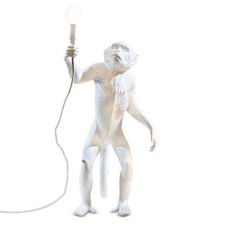 Seletti Lampe de table Le 46x27,5xh54cm en plastique blanc Singe