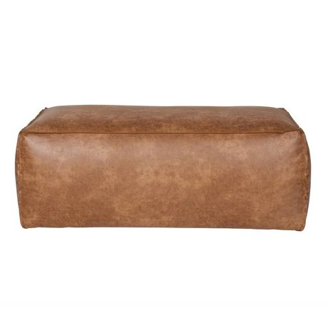 BePureHome Pouf Rodeo cognac brown leather 43x120x60cm