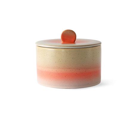 HK-living Pot Coockie 70's Vénus multicolore 17x17x14cm