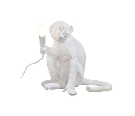 Seletti Tischleuchte Der Affe weiß Kunststoff 34x30xh32cm