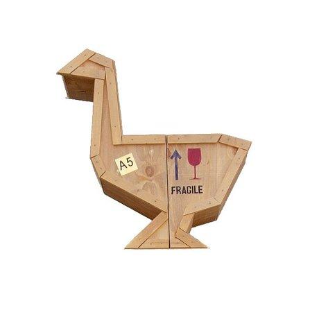 Seletti Beistelltisch Senden Tiere Goose GEESE sloophout 65x38,5xh66cm