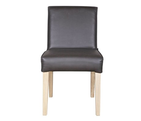 BePureHome Eetkamerstoel army Skin dark gray-white leatherette wood 81x46x59cm