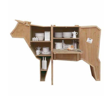Seletti Sending cabinet Animals cow COW sloophout 225x58xh151cm