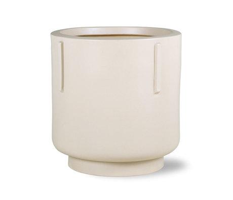 HK-living Bloempot earthenware cream 42x42x43cm