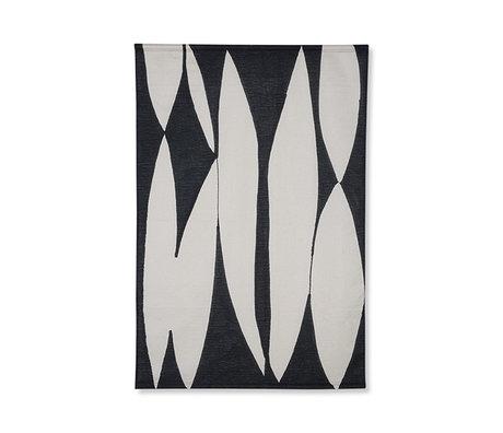 HK-living Wandkleed abstract chart zwart wit katoen 97x2x147cm