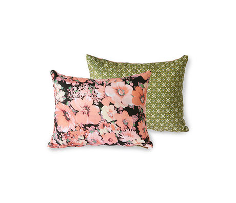 HK-living Sierkussen Doris for Hkliving floral geprint textiel 30x40cm