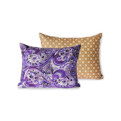HK-living Throw pillow Doris for Hkliving purple purple printed textile 30x40cm