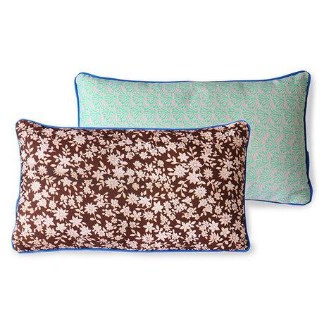 HK-living Throw pillow Doris for Hkliving brown printed textile 35x60cm