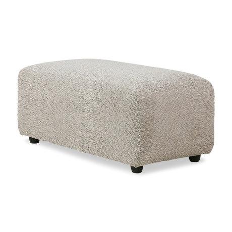 HK-living Sofa Element Jax Hocker kleines Ted Stone Textil 47x95x43cm
