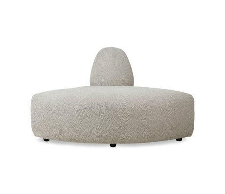 HK-living Sofa Element Jax Ecke Ted Stone Textil 95x95x74cm