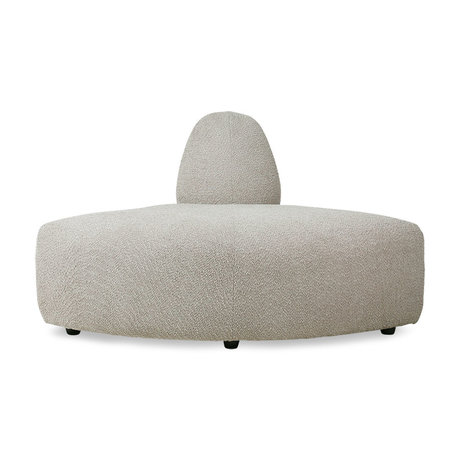 HK-living Elément de canapé Jax corner ted stone textile 95x95x74cm