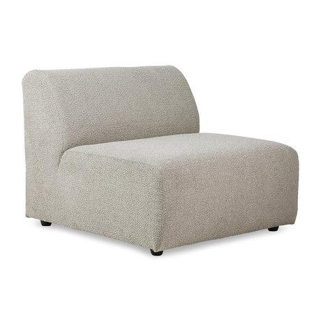 HK-living Sofa Element Jax Mittel Ted Stone Textil 87x95x74cm