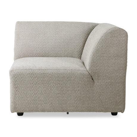 HK-living Sofa element Jax right ted stone textile 95x95x74cm