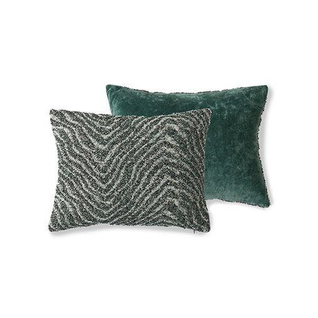 HK-living Sierkussen Doris for Hkliving jacquard weave zigzag 30x40cm