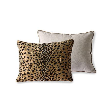 HK-living Throw pillow Doris for Hkliving flock print panther 30x40cm