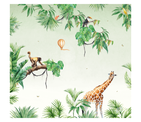 Creative Lab Amsterdam Monkey Jungle Wallpaper Mural 2mx2.80