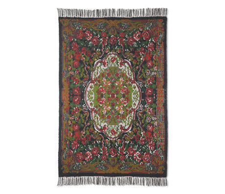 HK-living Rug printed rose kilim textile 120x180cm