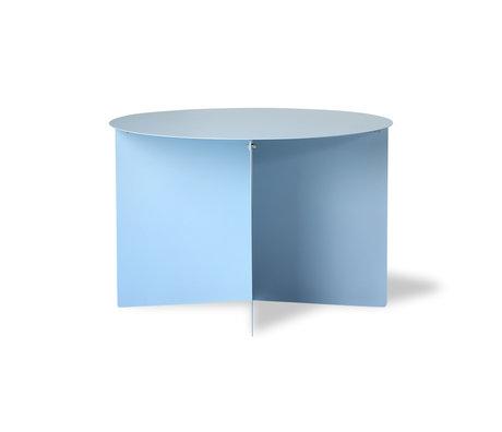 HK-living Bijzettafel rond blauw metaal 60x60x40cm