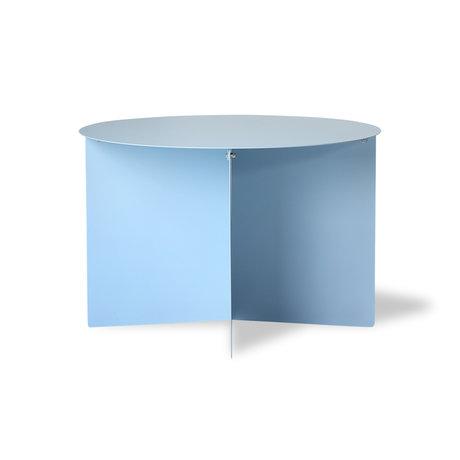 HK-living Side table round blue metal 60x60x40cm