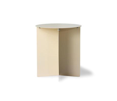 HK-living Side table round cream metal 40x40x45cm
