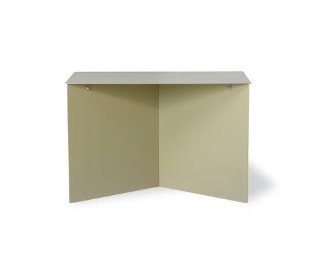 HK-living Bijzettafel rectangular olive groen metaal 60x45x35cm